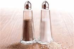 salt and pepper shakers placed side by side