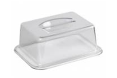 large plastic rectangular food cover