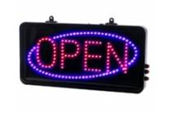 Large LED open sign