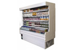 multideck display filled with soft drinks