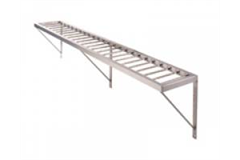 long wall shelf with brackets