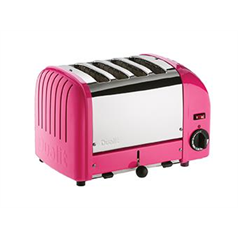 Dualit 4 Slot Vario Toaster Colours Chilli Pink