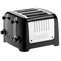 4 Slot Lite Toaster - Black Gloss