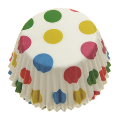 Spots Cupcake Cases small, 4.5cm, pk100