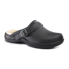 Toffeln Black Clog With Strap, Size 40