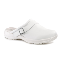 Toffeln White Clog With Strap, Size 41
