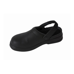 Professional Unisex Safety Clog, Black, Size 44