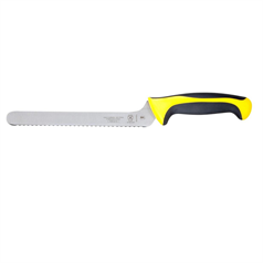 "millennia 8"" offset utility/bread knife - wavy edge - yellow"