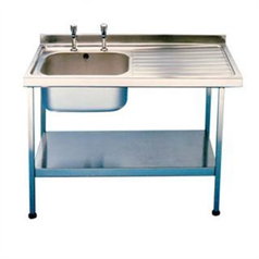 Mini Catering Sinks 1000 x 600mm w/ Single Bowl R-Hand Drainer