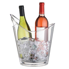 Clear Acrylic Drinks Pail / Wine Cooler