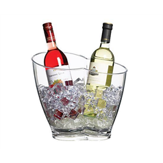 Clear Acrylic Double Sided Drinks Cooler