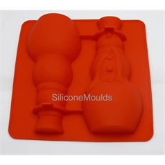 3D snowman silicone chocolate mould
