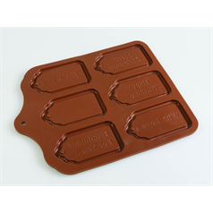 edible gift tag silicone chocolate mould