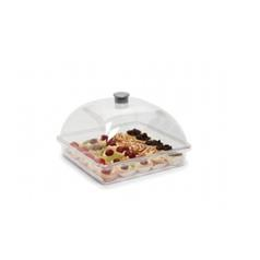 Square Cake Display Box with Dome Lid 180 x 260 x 260 (mm)