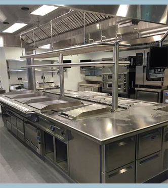 installed commercial kitchen