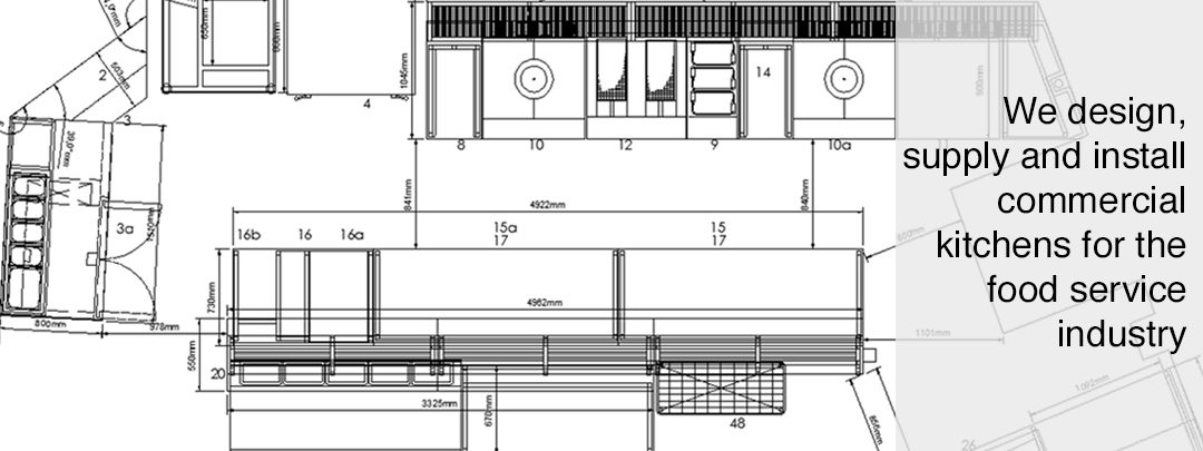 commercial kitchen cad drawing