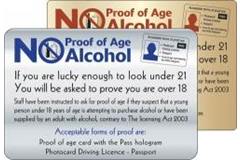 No alcohol under the age of 18 sign