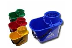 four diffrerent colourd drain buckets