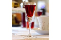 a full liqueur and sherry glass