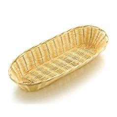 poly-rattan basket, 38cm x 15cm, 15 x 6 inches