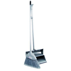 Grey Lobby Dustpan and Brush