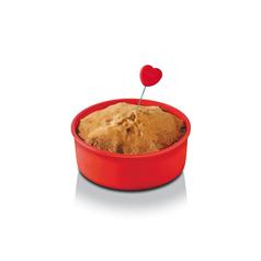 zeal cake tester, red/pink heart end