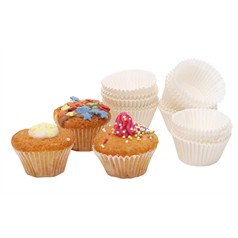 Cake Cases White Paper Petit Four Cases pk100, 4cm