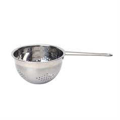 single handle stainless steel colander