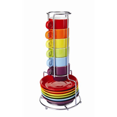 Colourful Stacking Espresso Set