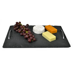 Slate Tray Chrome Handles 40 x 28cm