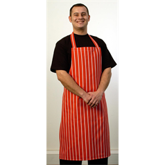 Red Butchers Apron