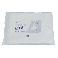 Disposable Polythene Aprons - White