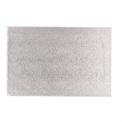"Single Thick Silver Cake Card - 18"" x 12"""