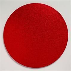 12 inch round cake board, red