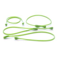 silicone cooking bands, green, pack of 4