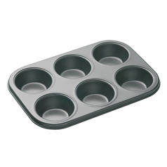 Non-Stick Six Hole Deep Baking Pan