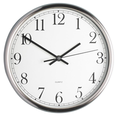 Stainless Steel 25cm Clock