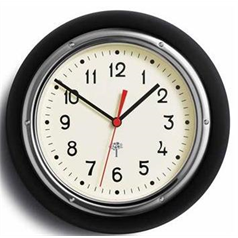 Retro Wall Clock - Black