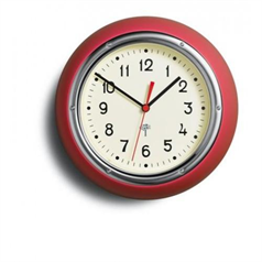 Retro Wall Clock - Red