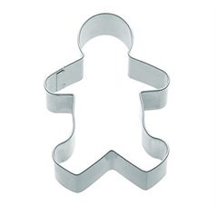 metal gingerbread boy shaped cookie cutter