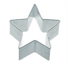metal star shaped cookie cutter, 6.5cm