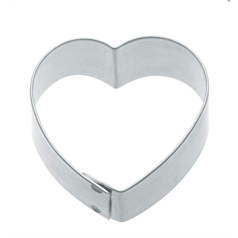 7.5cm heart shaped metal cookie cutters