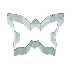 metal butterfly shaped cookie cutter, 7.5cm