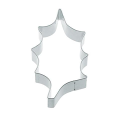 metal large holly shaped cookie cutter, 8.5cm