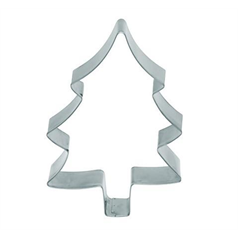 large metal xmas tree shaped cookie cutter, 12.5cm