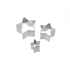 Set of 3 Star Fondant Cutters