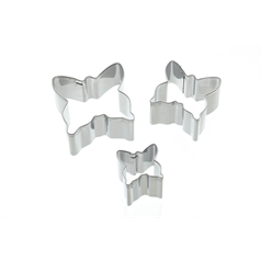 Set of 3 Butterly Fondant Cutters
