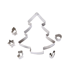 make & bake christmas tree, set of 6