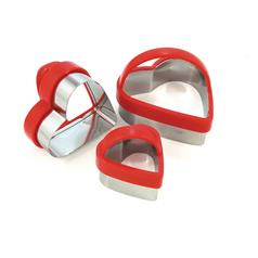 Eddingtons Heart Pastry Cutters, Set of 3