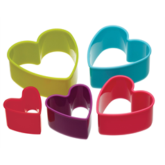 Set of 5 Heart Cookie Cutters